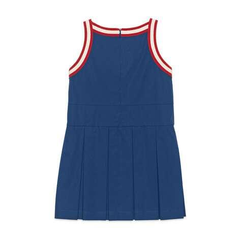儿童褶饰棉质连衣裙