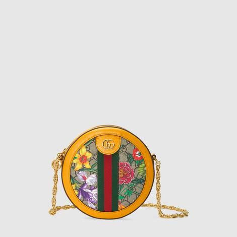 Ophidia系列GG花卉圆形迷你肩背包