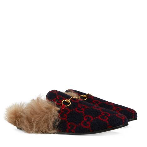 Princetown系列女士GG羊毛拖鞋