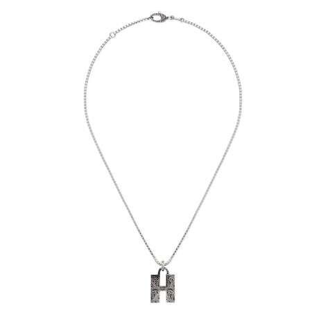 """字母""""H""""银项链"""