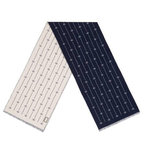 复古GG细条纹羊毛围巾