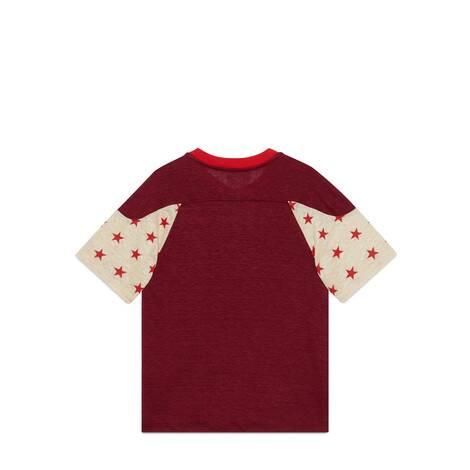 儿童Gucci Band刺绣亚麻T恤