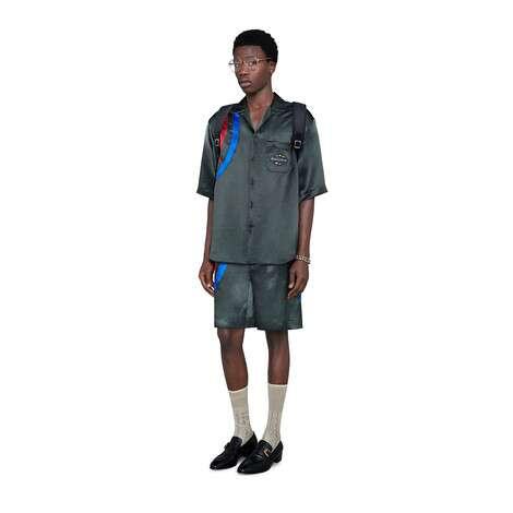 Gucci Band醋纤超大造型保龄球衫