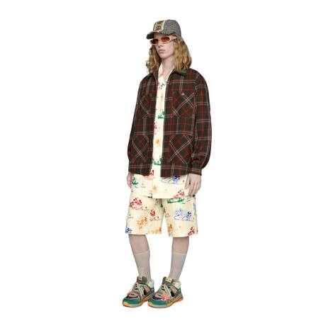 Disney x Gucci超大造型保龄球衫