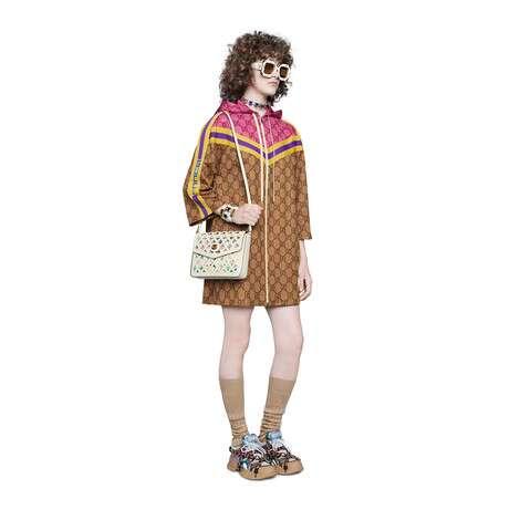 GG平纹针织拉链连衣裙