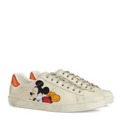 Disney x Gucci Ace系列男士运动鞋