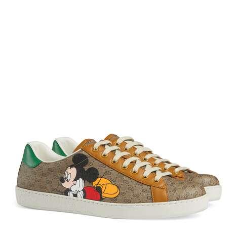 Disney x Gucci Ace系列男士GG运动鞋