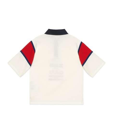 儿童Gucci Worldwide刺绣棉质Polo衫