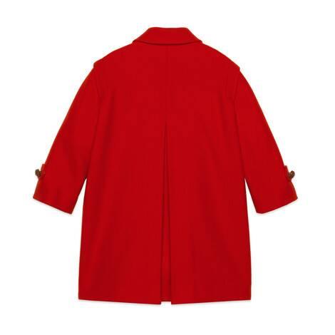 儿童毛毡贴饰羊毛大衣