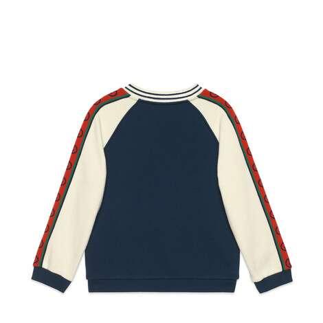 儿童互扣式G印花棉质卫衣