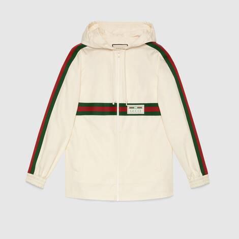 饰Gucci标签棉布夹克