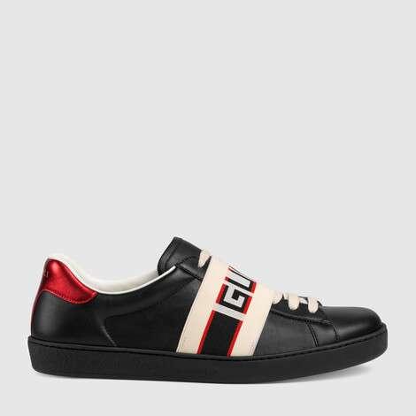 Ace系列Gucci条纹运动鞋