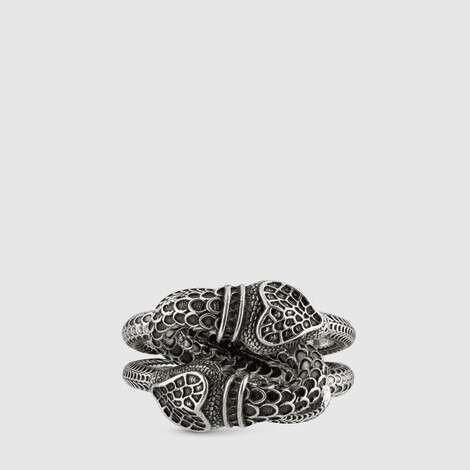 古驰花园系列灵蛇戒指