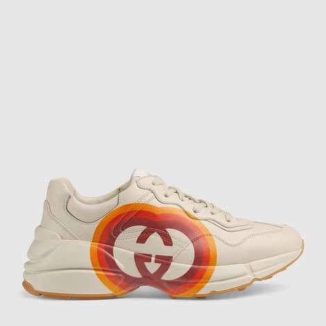 Rhyton系列互扣式G和心形图案运动鞋