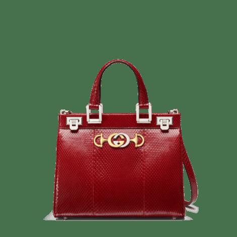 Gucci Zumi系列蛇皮小号手提包