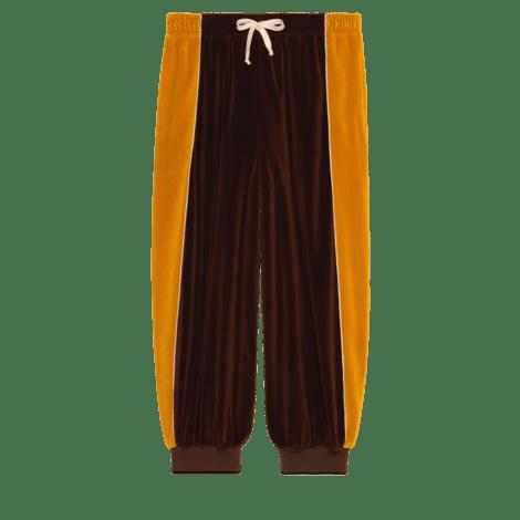 哈伦裤风格绳绒长裤
