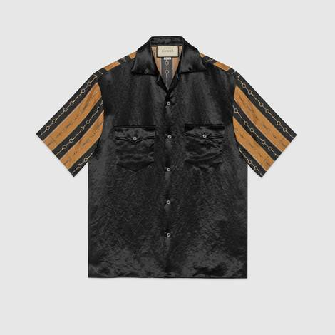 双材质印花保龄球衫