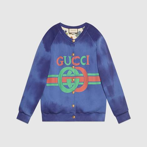饰Gucci标识棉质卫衣
