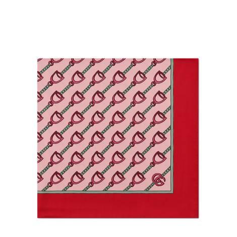 马镫印花围巾