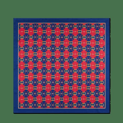 饰互扣式G菱形印花围巾