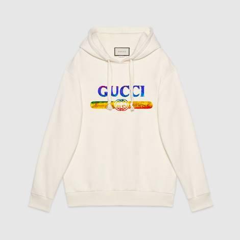 饰Gucci亮片标识卫衣