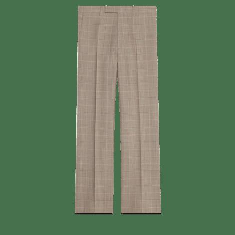 格纹羊毛长裤