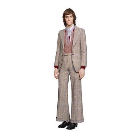 格纹棉质夹克