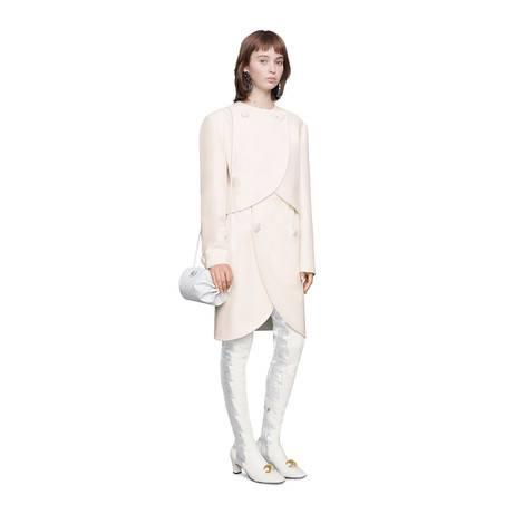 羊毛真丝混纺半身裙