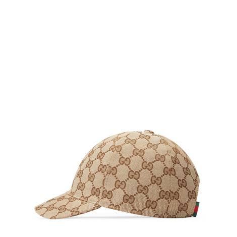 儿童GG图案帆布帽
