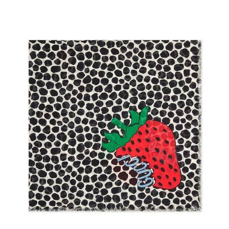 Gucci草莓印花披肩