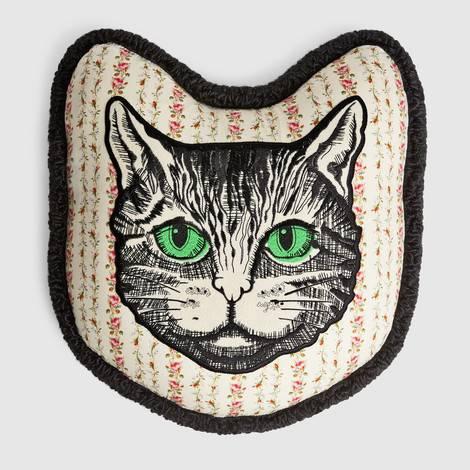 Mystic Cat刺绣靠垫
