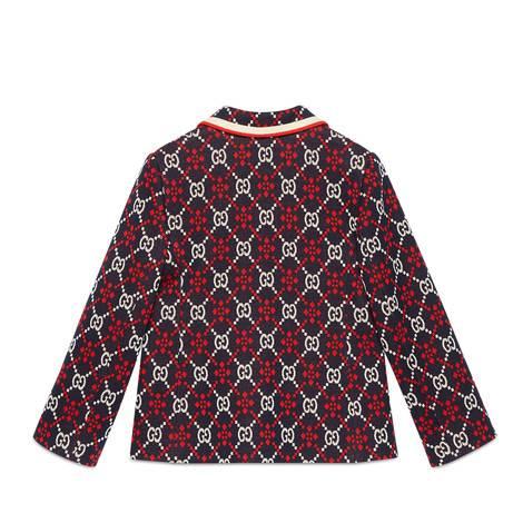 儿童GG菱形棉质夹克
