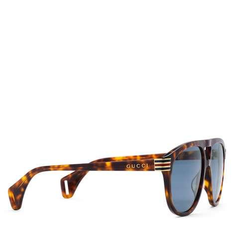 饰珐琅织带图案飞行员太阳眼镜