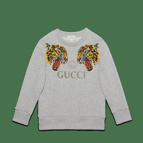 儿童豹纹卫衣