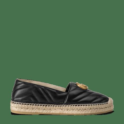 双G造型皮革草编鞋