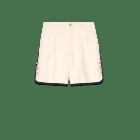 羊毛真丝混纺短裤