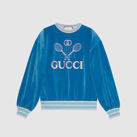 Gucci 网球印花卫衣