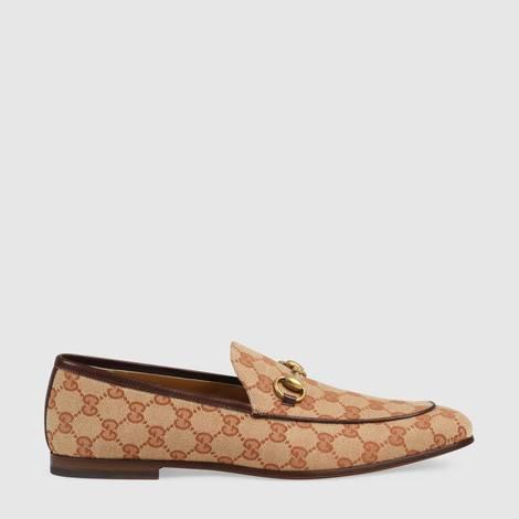 Gucci Jordaan 系列男士 GG 帆布乐福鞋
