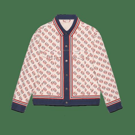 印花斜纹棉夹克