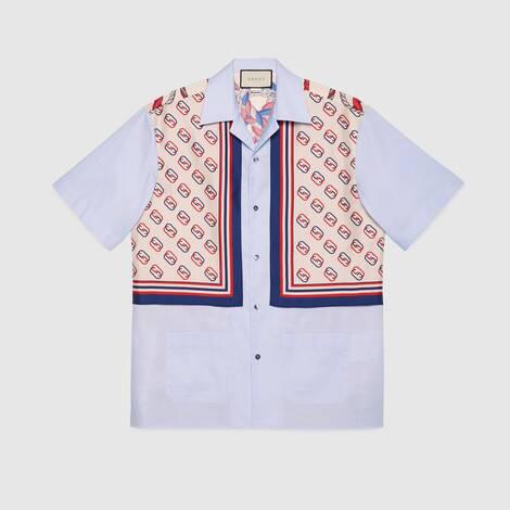 牛津棉和真丝保龄球衫
