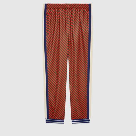 宽松条纹慢跑长裤