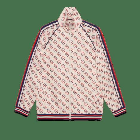 超大造型印花针织夹克