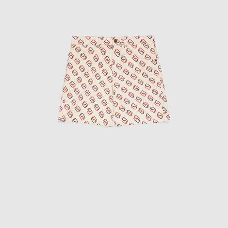 椭圆形互扣式 G 印花短裤