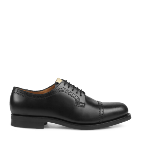 皮革布洛克系带鞋