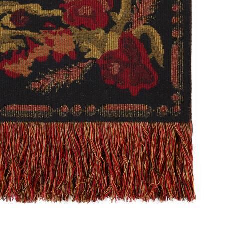 复古花朵羊毛盖毯