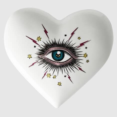 星眼印花心形收纳盒