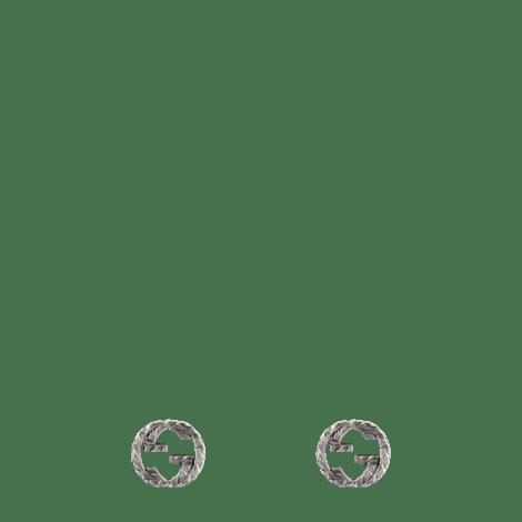 互扣式 G 纯银耳环