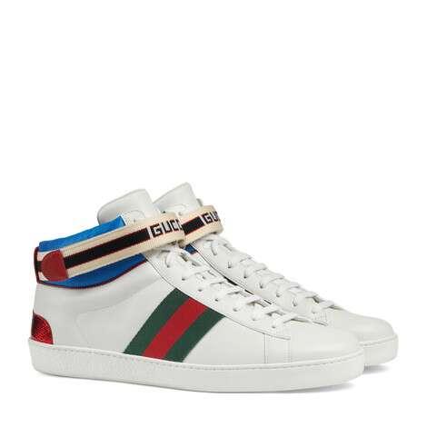 Ace系列Gucci条纹高帮运动鞋