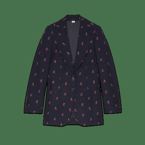 樱桃切丝羊毛夹克