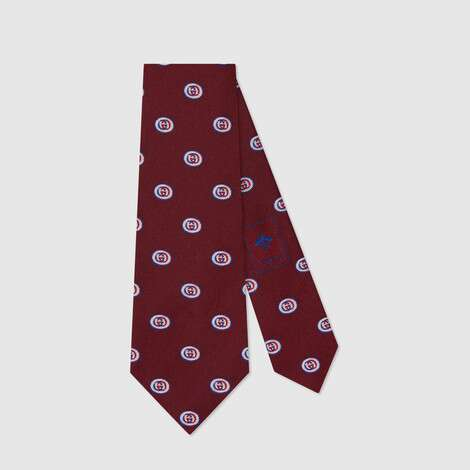 互扣式 G 真丝领带